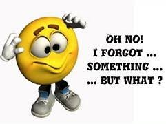 """Yellow M&M character, with shoes on, saying, """"Oh No! I forgot...something...but what?"""""""