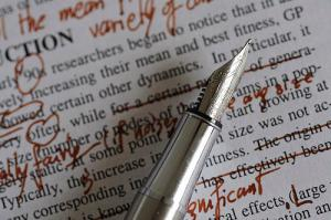 Text, with lots of handwritten notes and fountain pen