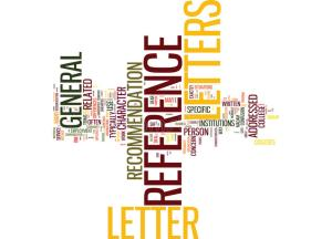 Wordle of key words involved in the writing of reference letters