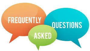 "Three thought bubbles with words, ""Frequently Asked Questions"""
