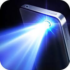 Mobile phone, flashlight app turned on