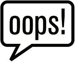 """Word bubble that says """"Oops!"""""""