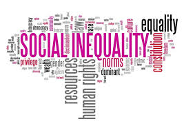 Wordle with terms about social inequality